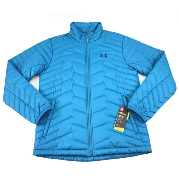 New Under Armour Mens Cold Gear Reactor Puffer Jacket Grey 1303058 quilted